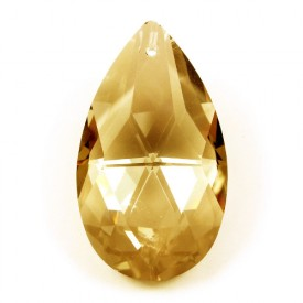 Crystal Almond Champagne 45x28mm